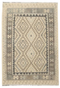 Kilim Afghan Old Style Alfombra 124X180 Oriental Tejida A Mano Marrón Oscuro/Marrón Claro (Lana, Afganistán)