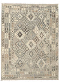 Kilim Afghan Old Style Alfombra 191X249 Oriental Tejida A Mano Gris Oscuro/Verde Oliva (Lana, Afganistán)