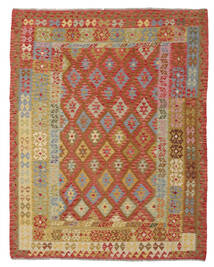 Kilim Afghan Old Style Alfombra 193X245 Oriental Tejida A Mano Marrón/Rojo Oscuro (Lana, Afganistán)