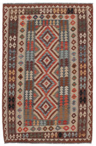 Kilim Afghan Old Style Alfombra 136X210 Oriental Tejida A Mano Marrón Oscuro/Marrón/Negro (Lana, Afganistán)
